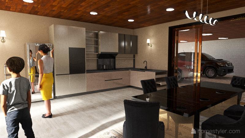 casa familiar Interior Design Render