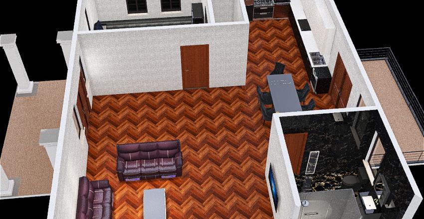 Summer Lake Cottage House Interior Design Render