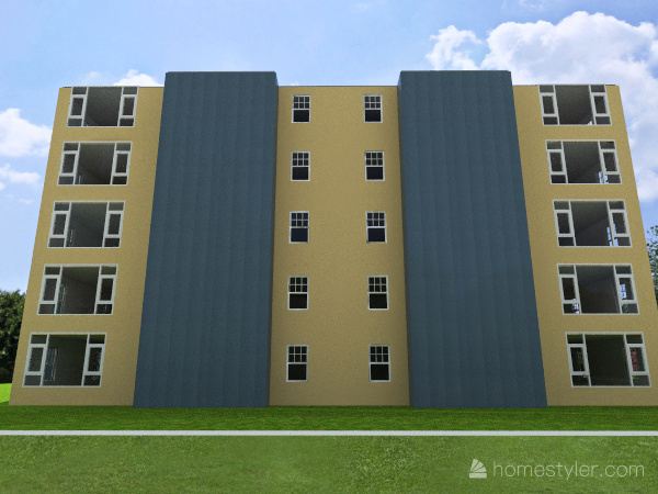 Apartment Complex Exterior Interior Design Render