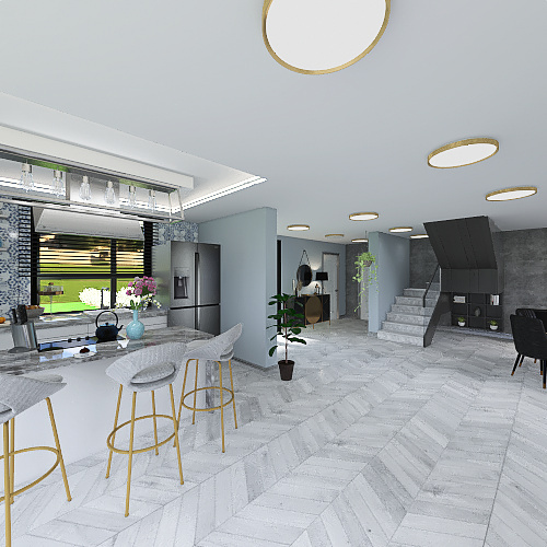 Nowoczesna willa Interior Design Render