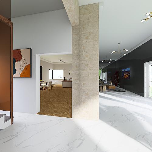 casa cool Interior Design Render