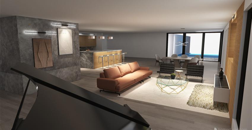 Nice, Clean, Simple Modern Home Interior Design Render