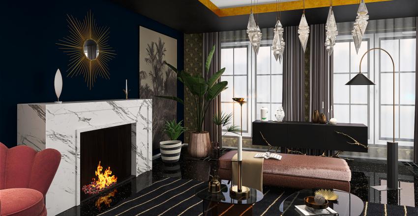Sala Art Deco Interior Design Render