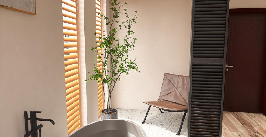 Rattan, wood, naturaly Interior Design Render