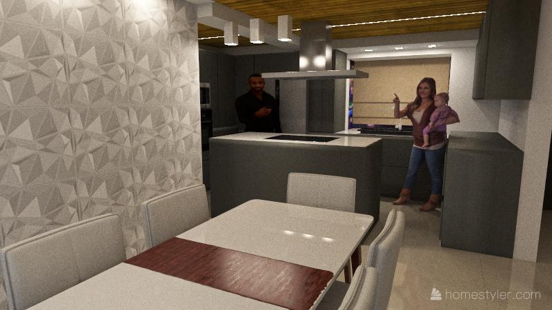 Cocina Julio 2 Interior Design Render