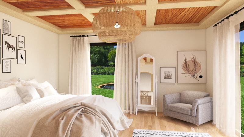 large 1storey house Interior Design Render