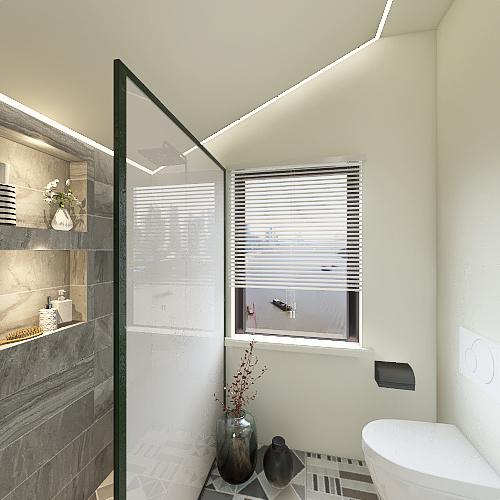 Bathroom with walk-in shower Interior Design Render