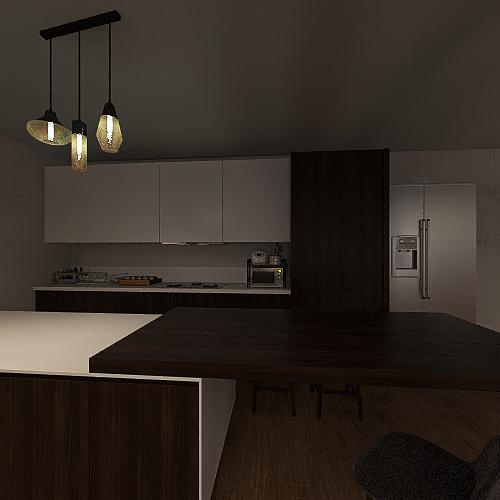 sala y comedor Interior Design Render