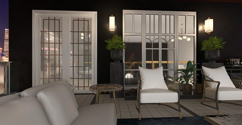 Luxury boutique hotel suite Interior Design Render