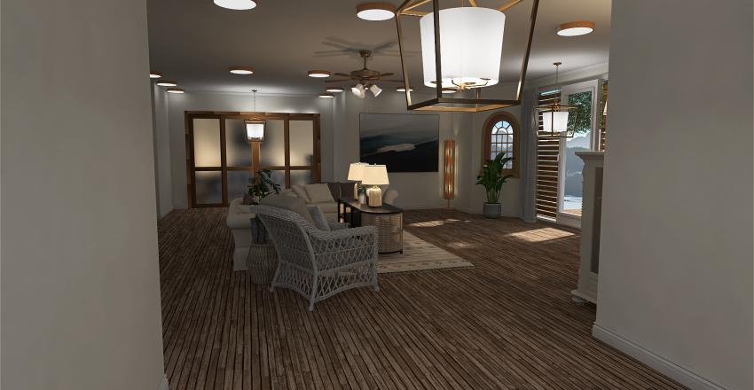 Tinted Beach Home Interior Design Render
