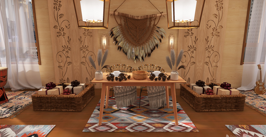 Boho wedding Interior Design Render