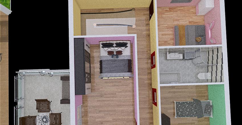 Nagy Guszti ház Interior Design Render