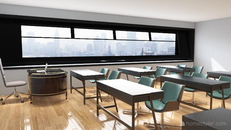 Chau.V-classroom Interior Design Render