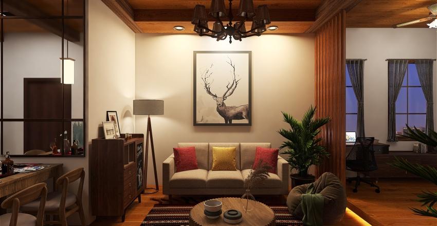 RUSTIC STYLE STUDIO UNITS Interior Design Render