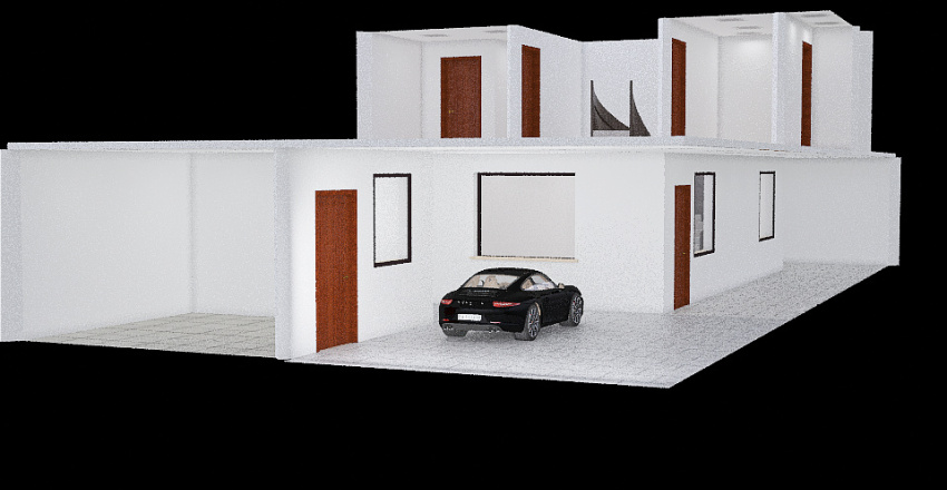 Casa na praia Interior Design Render