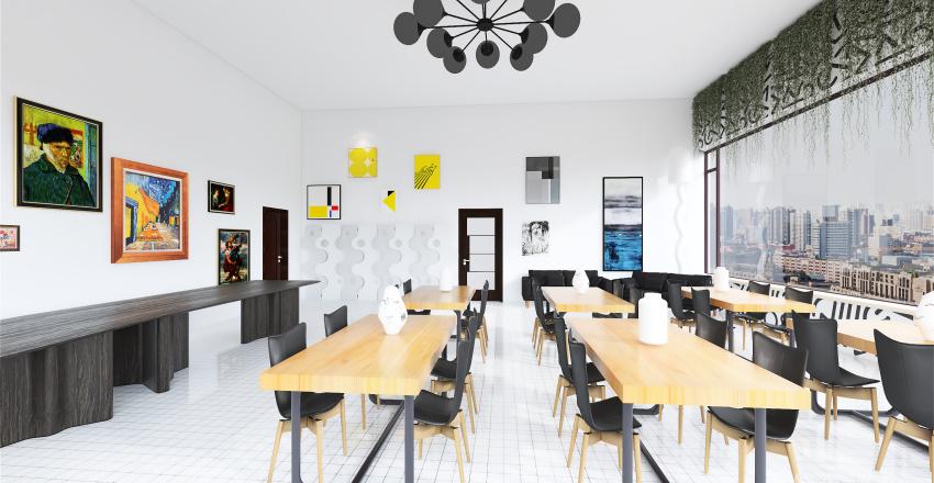 coffee house Interior Design Render