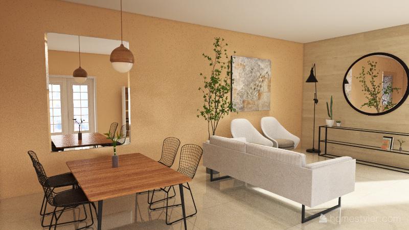 Projeto Sala 1 Interior Design Render