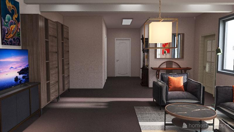 Tiny Little House Interior Design Render