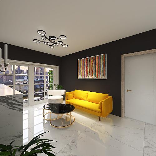 Luxury Bedroom Interior Design Render