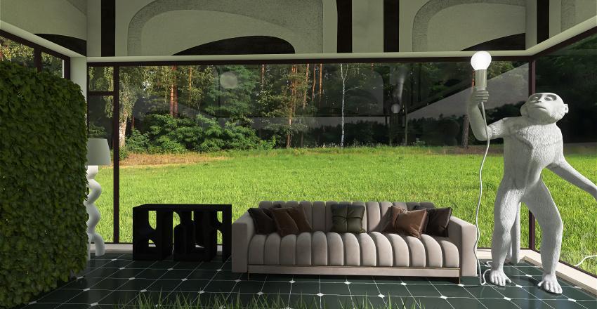 Sun room Interior Design Render