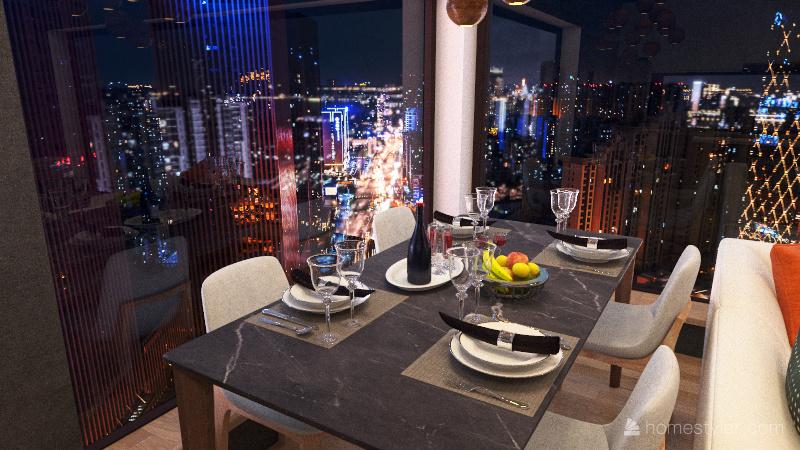 NY  apartment Interior Design Render