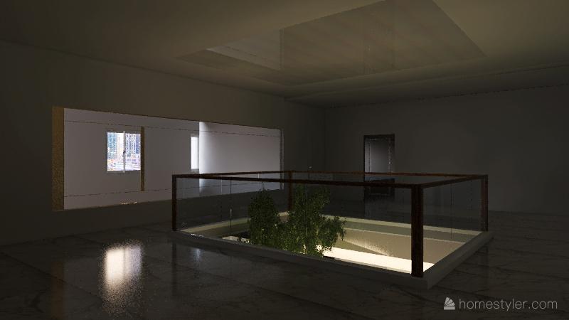 CORTEN STEEL OPTION Interior Design Render