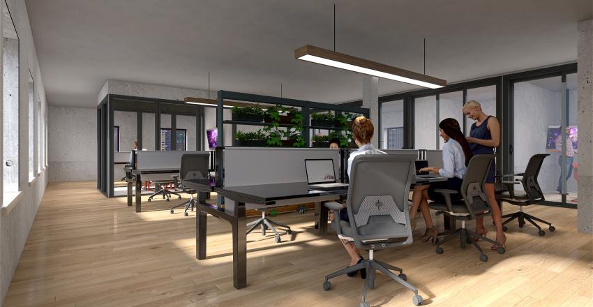 Magazine Office Interior Design Render