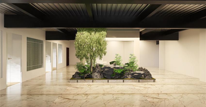 black beams-100ft Interior Design Render