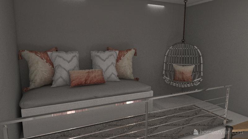 Jack and Jill Daughter Bedrooms Interior Design Render