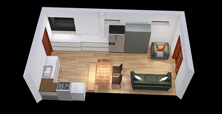 Table no peninsula Interior Design Render