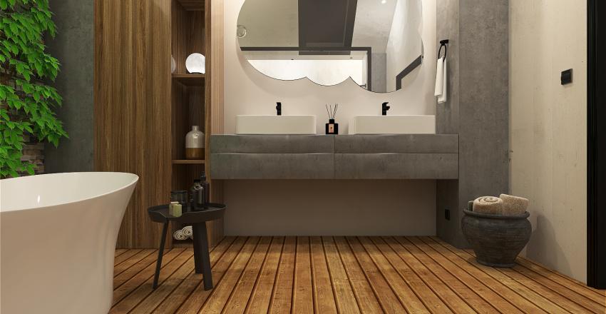 Spa-like bathroom Interior Design Render
