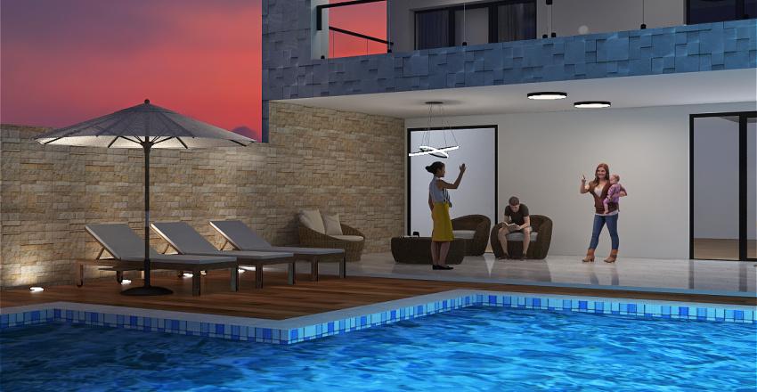 Fachada de casa Interior Design Render