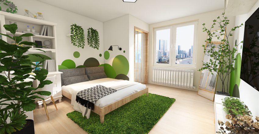 Surrounded by green Interior Design Render