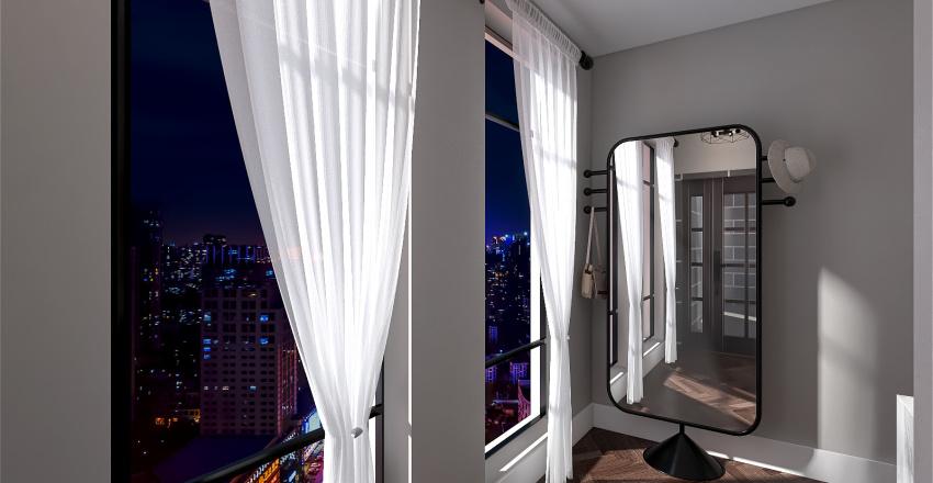 Spacious One Bedroom Flat Interior Design Render