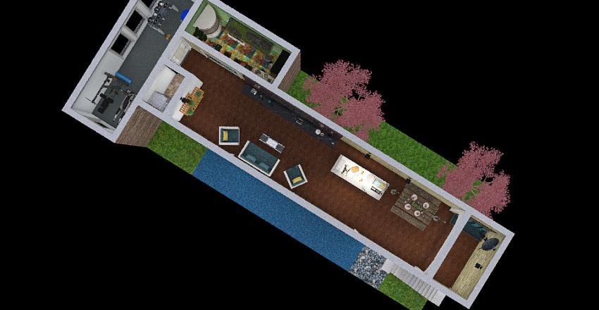 plano loft Interior Design Render