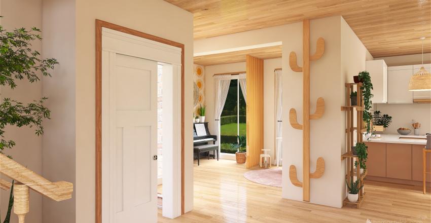 boho country family house. Interior Design Render