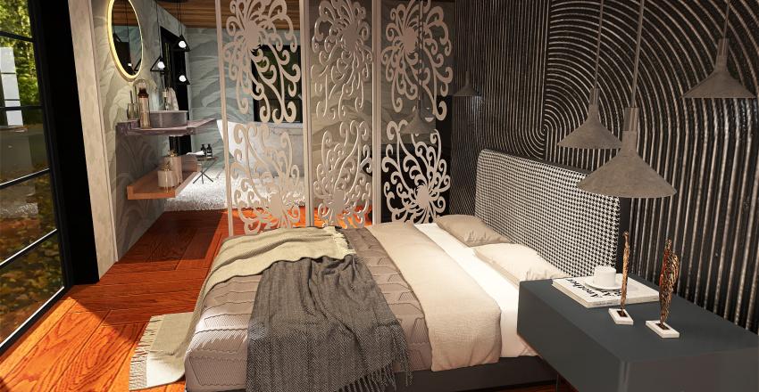 Transitional Design Interior Design Render