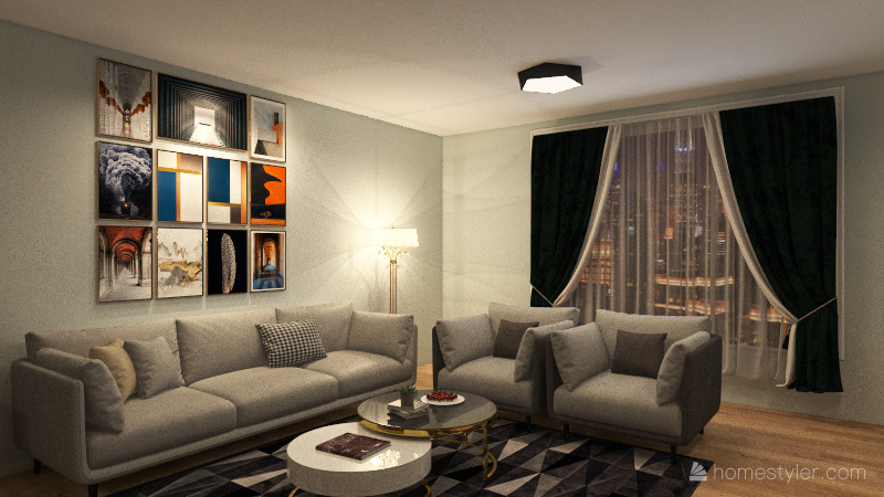 Apartment on the outskirts Interior Design Render