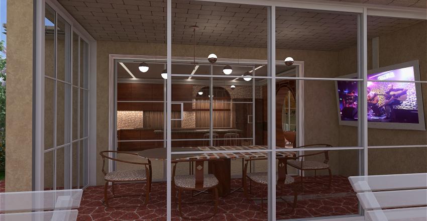 villetta multiforme Interior Design Render