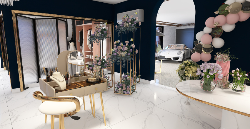Weeding Room Interior Design Render