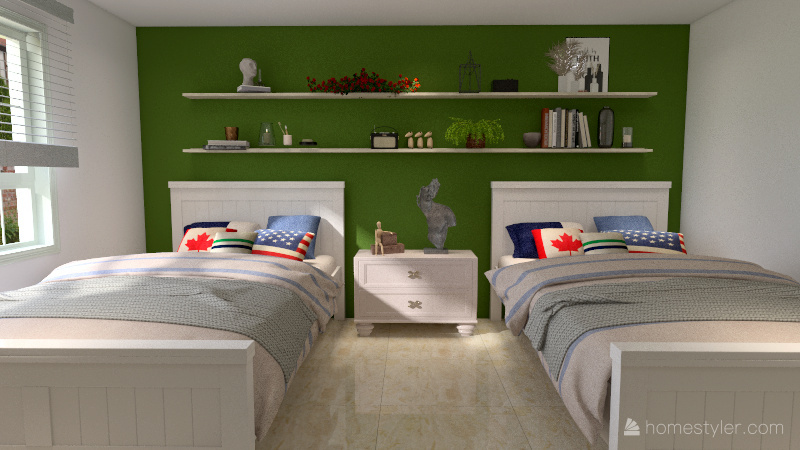 Projeto Quarto 1 Interior Design Render
