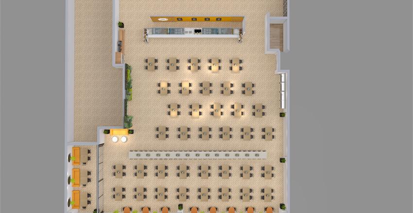 Modification 400 sqm industrial Canteen Interior Design Render
