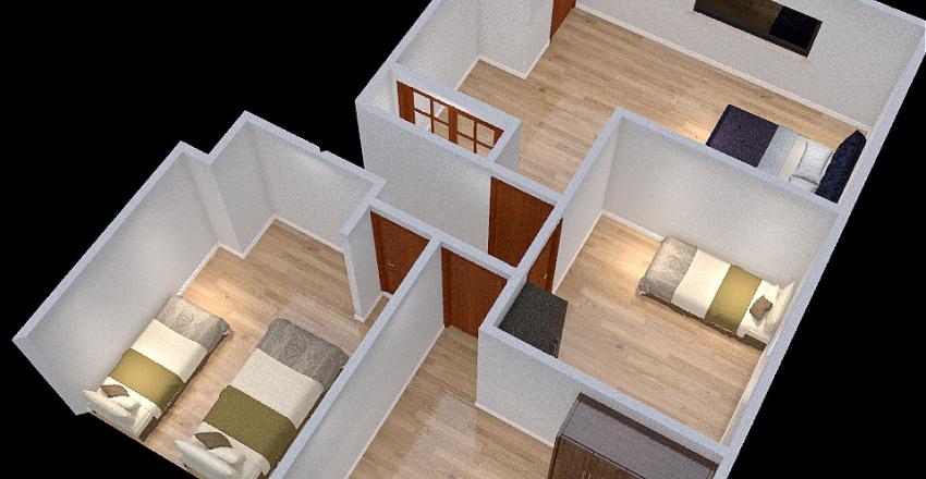 2nd Floor Bedrooms Interior Design Render