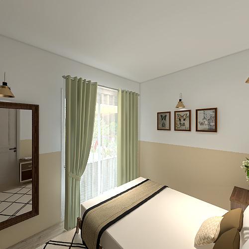Athenean Greek suburbs Interior Design Render