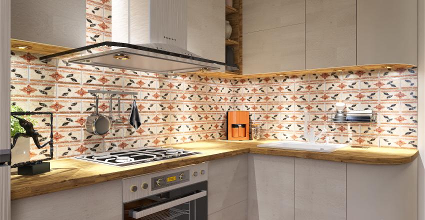 mediterranean inspired apartment Interior Design Render
