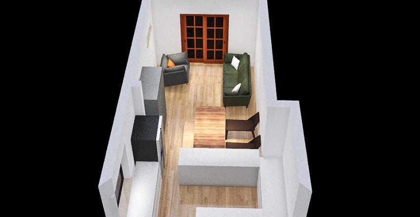 Galley style Interior Design Render