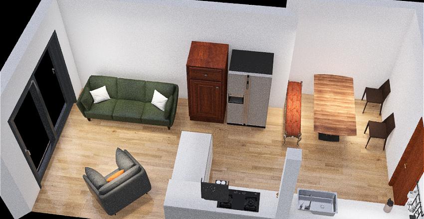 Flat design Interior Design Render