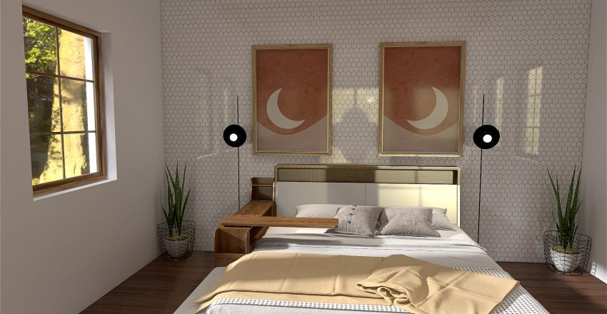 The Boho Bedroom Interior Design Render