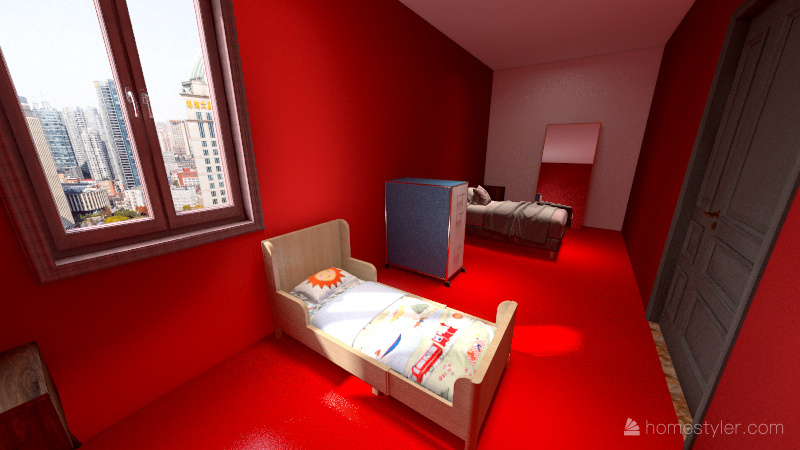 Diego,shipping container Interior Design Render