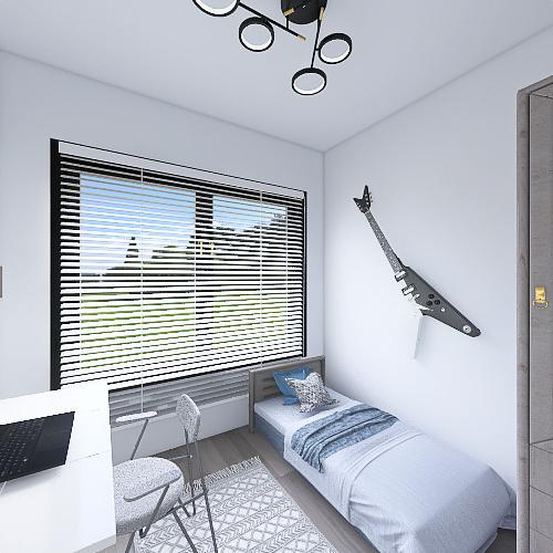 student house Interior Design Render